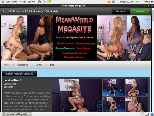 Mean World MegaSite Member Account