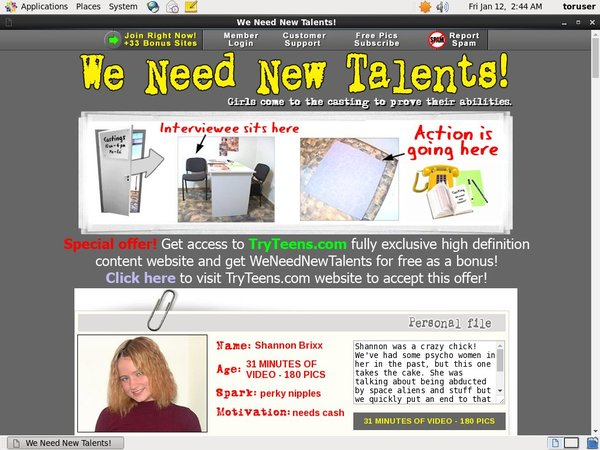 Trial We Need New Talents Membership