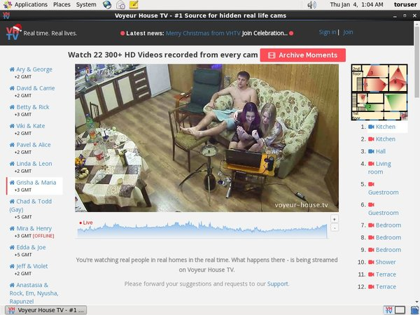 Voyeur House TV With Euros