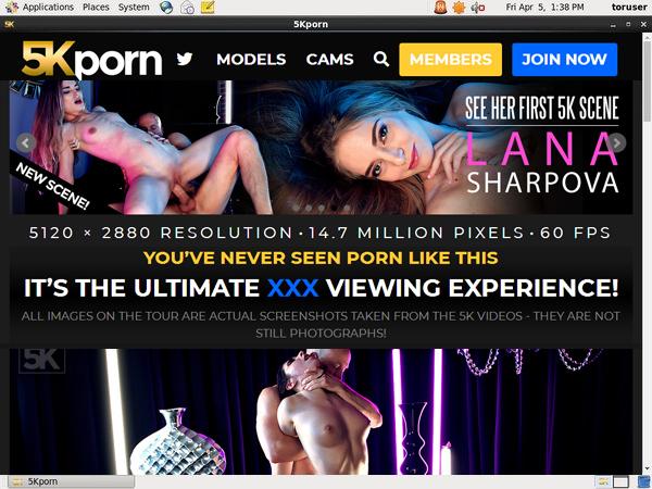 5K Porn Registration Form