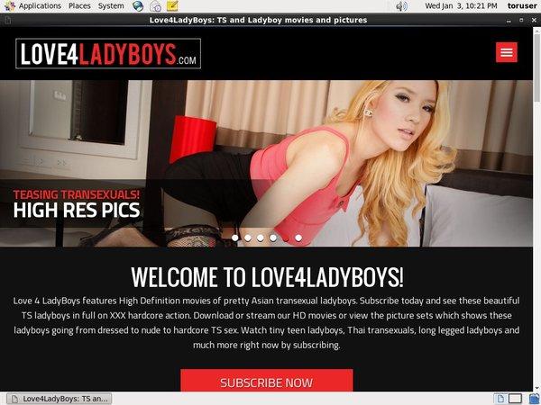 Love 4 LadyBoys Sign