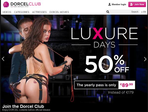 Dorcel Club 注册帐号