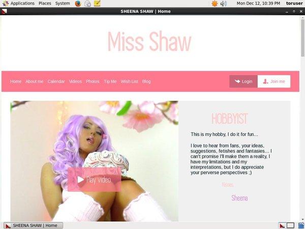 Sheenashaw.com Discount Sign Up